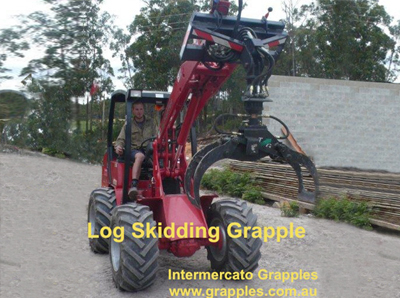 skid steer log grapples